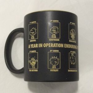 Afghanistan Coffee Mug Tea Cup Black and Yellow